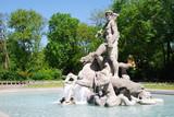 Neptuen fountain in the old botanical garden in Munich poster
