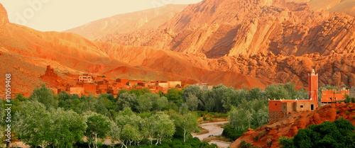Canvas Woestijn Kasbah in Marokko