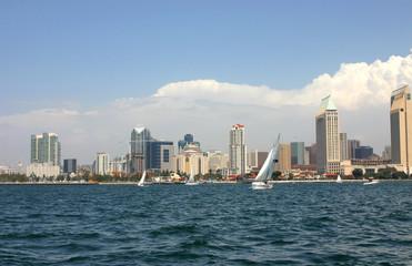 San Diego Skyline with Sail Boats