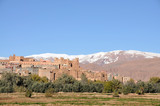 Moroccan village, Atlas mountains in the background poster