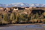 Berber village in Morocco, Africa poster