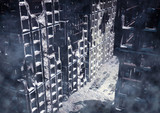 city in ruin