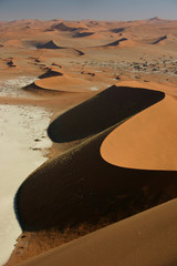 Namibie - Vagues de dunes vu de Big Daddy