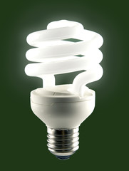 Illuminated low energy bulb