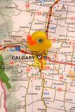 calgary,canada,map,atlas,flag,travel,duck poster