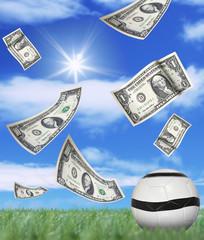 money in football