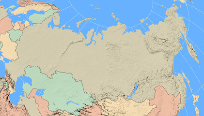 Russia Region Map