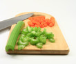 Prepping dinner - cut celery and carrots