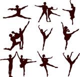 ballerina and ballet vector silhouette