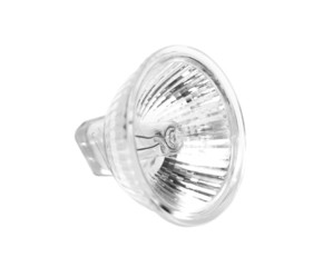Halogen lamp projector on white