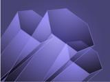 Abstract geometric hexagon design poster