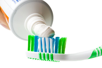 Tooth-brush and tooth-paste