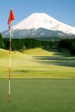 Golfing in Japan poster