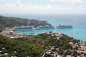 Cruise Ships in St. Thomas, Caribbean