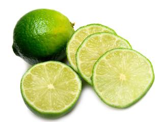 lime on white