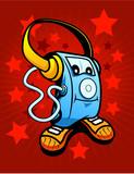 Retro music Mascot poster
