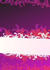 Illustration of purple wallpaper