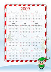 Illustration of holiday calendar