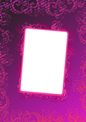 Illustration of pink wallpaper with copy-space