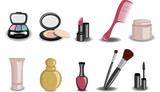 Fototapety beauty and fashion icons