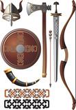 viking icon set poster