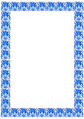 Vintage blue-white framework