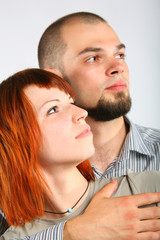 Man and woman profile