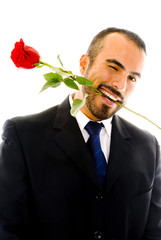 Winking Guy with Rose