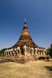 Sukhothai Historical Park - Elephant Chedi poster