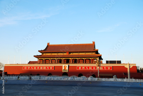 Fotobehang Beijing Tiananmen Gate Of Heavenly Peace in Beijing, China