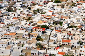 Traditional greek houses in Lindos