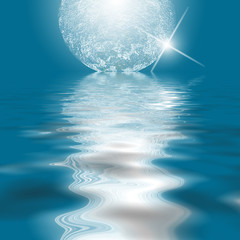Reflection of moon on water