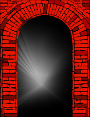 Abstract red-black brick background