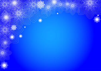 Abstract winter dark blue background