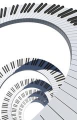 Piano keyboard spiral
