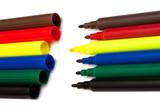 color felt-tip pens poster