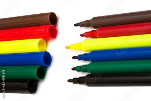 poster of color felt-tip pens