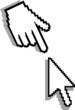 Hand and arrow cursor. Vector