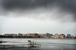 Skyline of Madison Wisconsin during a thunderstorm