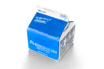 Half pint carton of milk