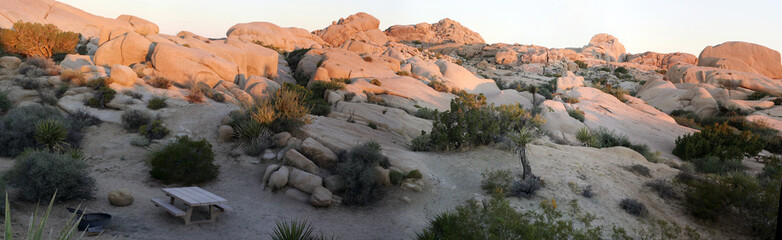 Joshua Tree National Park - Dawn above the hills