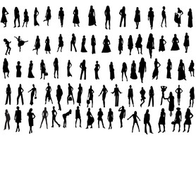 Silhouette lady's