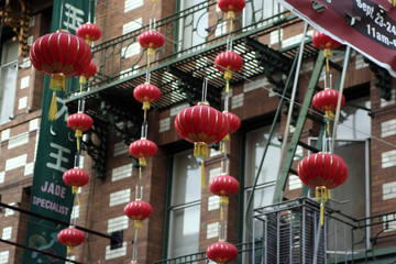 Chinatown in San Francisco - Lamp street
