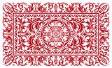 Ornement florale rouge pour fond - motif de fond poster