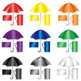 Multicolored samples for merchandise design poster