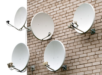 Five satellite antennas