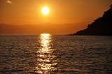 Sunset on the sea - Tramonto sul mare poster