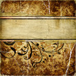 decorative vintage golde  paper with place for text