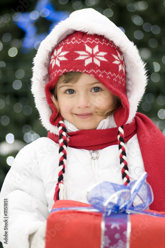 Cute girl christmas portrait