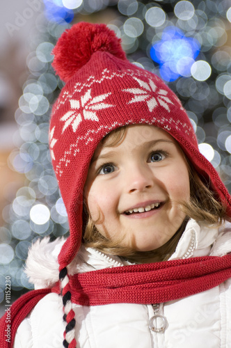 Little girl Christmas portrait